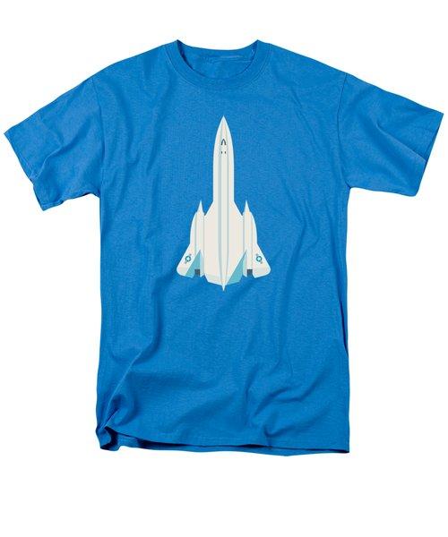 Sr-71 Blackbird Us Air Force Jet Aircraft - Blue Men's T-Shirt  (Regular Fit)
