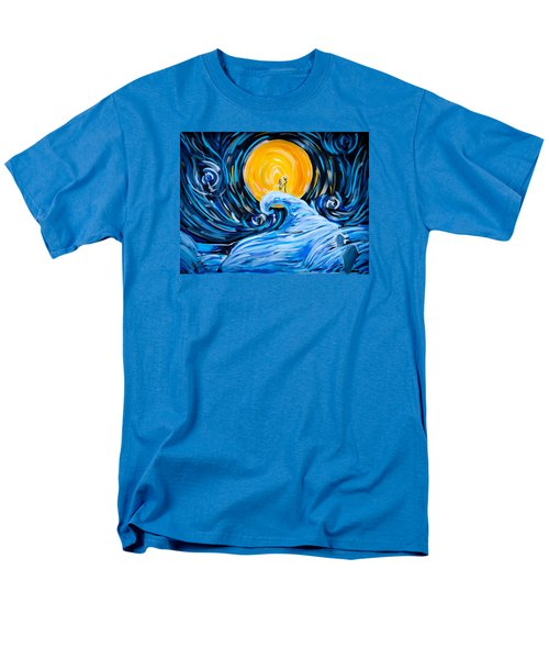 Starry Spiral Hill Night Men's T-Shirt  (Regular Fit) by Marisela Mungia