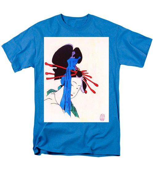Men's T-Shirt  (Regular Fit) featuring the painting Sutekina Geisha Ni by Roberto Prusso