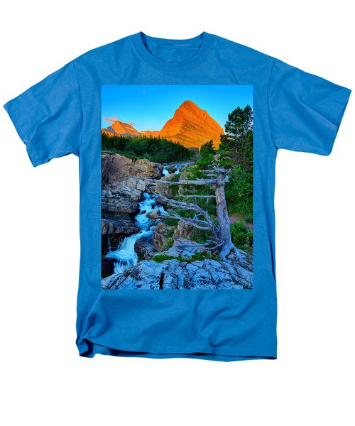 Men's T-Shirt  (Regular Fit) featuring the photograph Swiftcurrent Falls by Greg Norrell