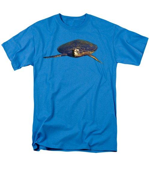 Swimming Turtle Men's T-Shirt  (Regular Fit) by Pamela Walton