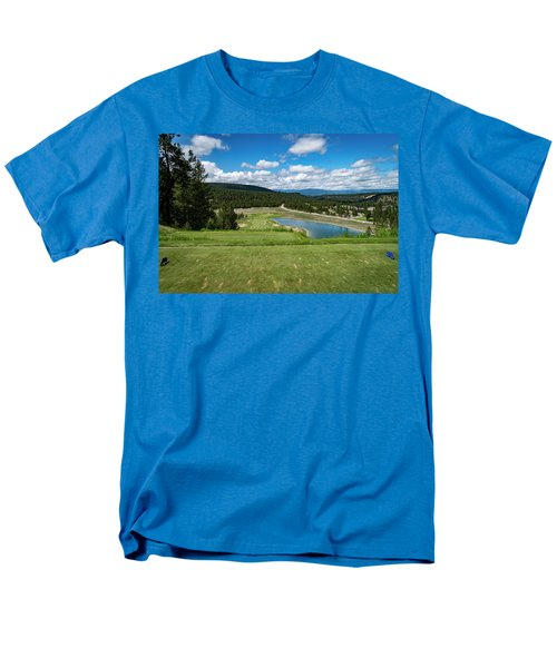 Men's T-Shirt  (Regular Fit) featuring the photograph Tee Box With As View by Darcy Michaelchuk