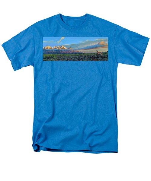 Teton Morning Men's T-Shirt  (Regular Fit) by Paul Krapf