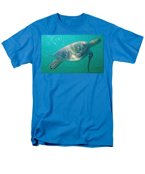 Men's T-Shirt  (Regular Fit) featuring the painting Thaddeus The Turtle by Erika Swartzkopf