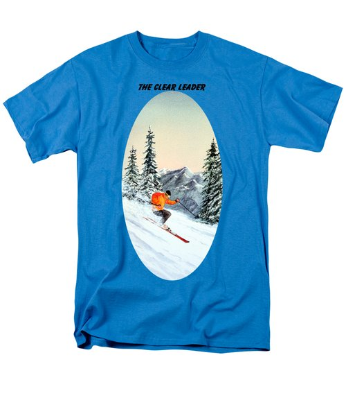 The Clear Leader Skiing Men's T-Shirt  (Regular Fit) by Bill Holkham