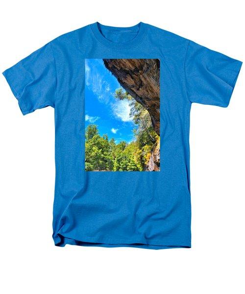 The Cliffs At Bridal Veil Falls Men's T-Shirt  (Regular Fit) by James Potts