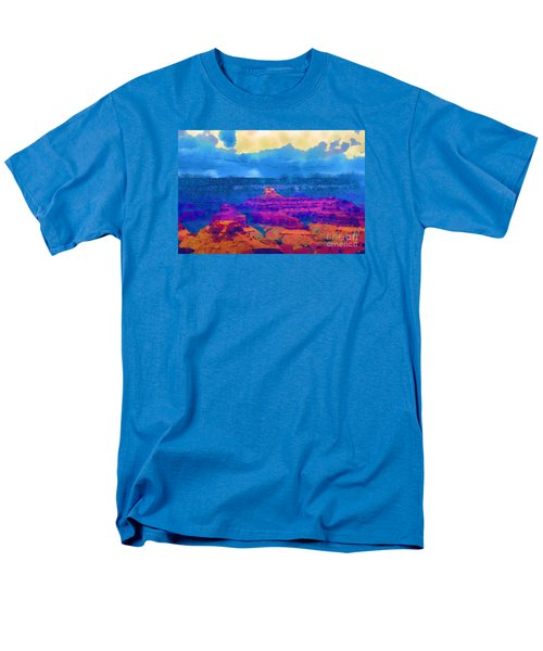 Men's T-Shirt  (Regular Fit) featuring the digital art The Grand Canyon Alive In Color by Kirt Tisdale
