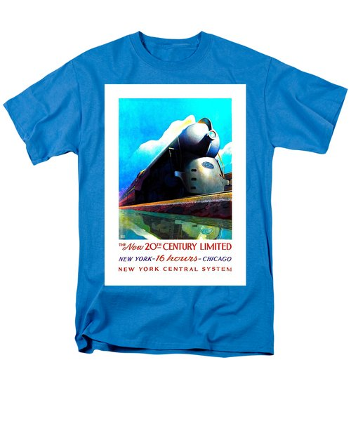 The New 20th Century Limited New York Central System 1939 Leslie Ragan Men's T-Shirt  (Regular Fit)