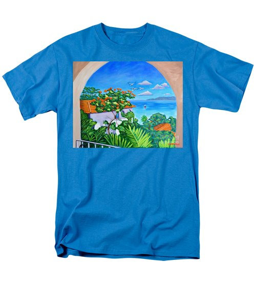 The View From A Window Men's T-Shirt  (Regular Fit)