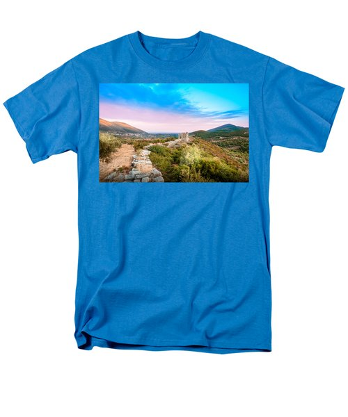 The Walls Of Ancient Messene - Greece. Men's T-Shirt  (Regular Fit) by Stavros Argyropoulos