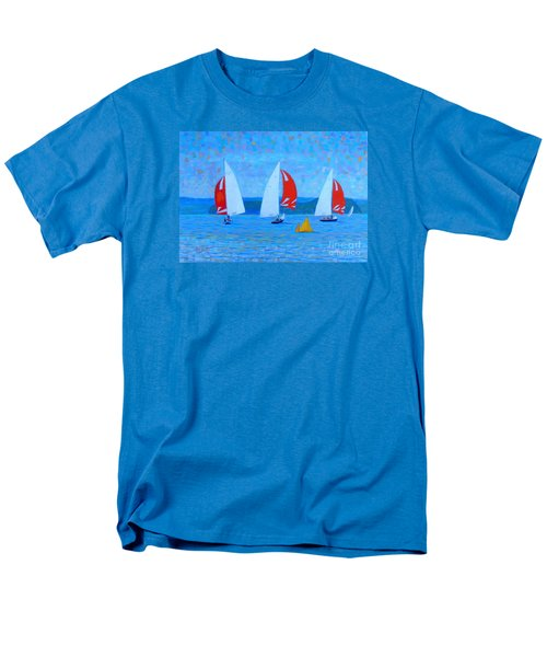 Three Red Sails  Men's T-Shirt  (Regular Fit) by Rae  Smith