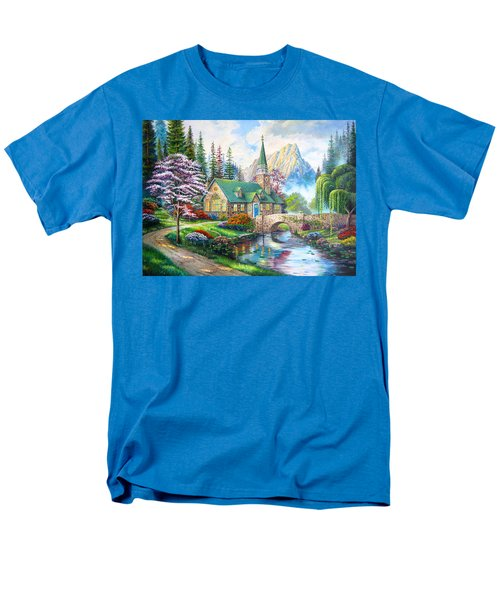 Men's T-Shirt  (Regular Fit) featuring the painting Time To Come Home by Karen Showell