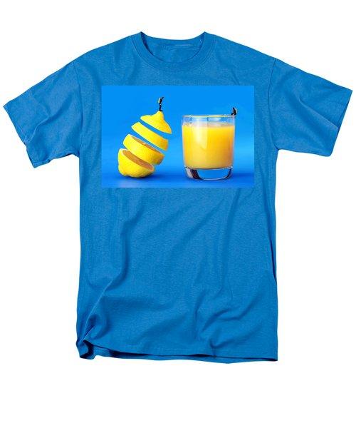 Underwater Diving On A Floating Orange Men's T-Shirt  (Regular Fit) by Paul Ge