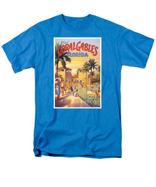 Visit Coral Gables-florida Men's T-Shirt  (Regular Fit) by Nostalgic Prints