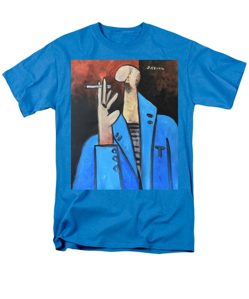 Vitae The Smoker In A Blue Blazer  Men's T-Shirt  (Regular Fit)