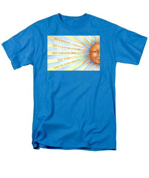 Men's T-Shirt  (Regular Fit) featuring the painting Was A Sunny Day by Lora Serra