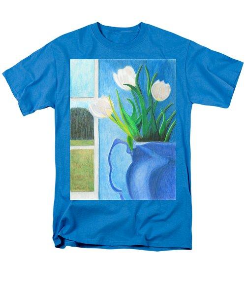 White Tulips Men's T-Shirt  (Regular Fit) by Arlene Crafton