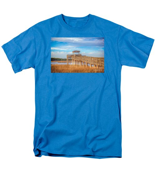 Men's T-Shirt  (Regular Fit) featuring the photograph Wildlife Viewing Pier by Marion Johnson