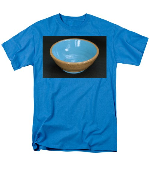 Yellow And Blue Ceramic Bowl Men's T-Shirt  (Regular Fit) by Suzanne Gaff