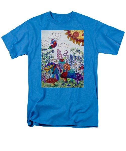 Zentangle Garden Men's T-Shirt  (Regular Fit) by Megan Walsh