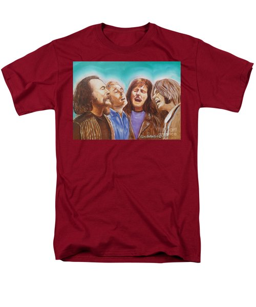 Crosby Stills Nash And Young Men's T-Shirt  (Regular Fit) by Kean Butterfield