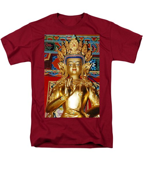 Men's T-Shirt  (Regular Fit) featuring the photograph Five Dhyani Buddhas by Lanjee Chee