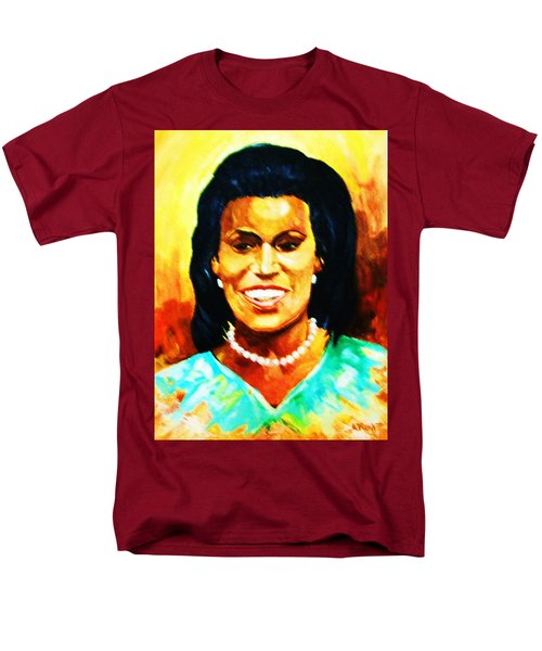 Men's T-Shirt  (Regular Fit) featuring the painting Michelle Obama by Al Brown