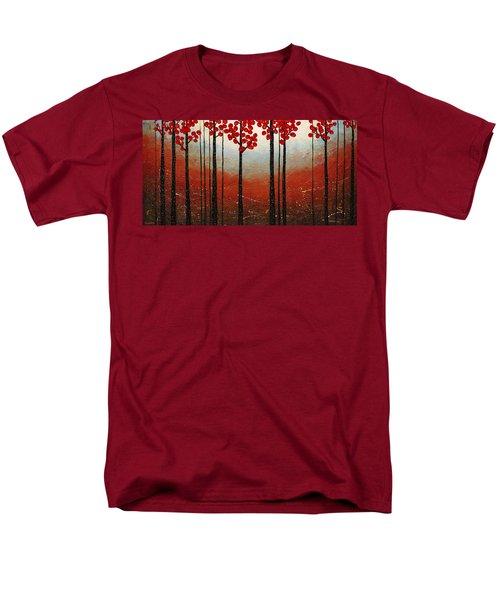 Red Blossom Men's T-Shirt  (Regular Fit) by Carmen Guedez