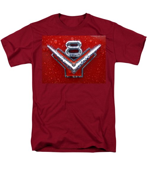 1955 Ford V8 Emblem Men's T-Shirt  (Regular Fit) by Joseph Skompski