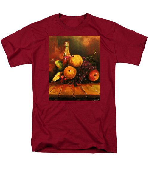 Men's T-Shirt  (Regular Fit) featuring the painting Fruit And Wine by Al Brown