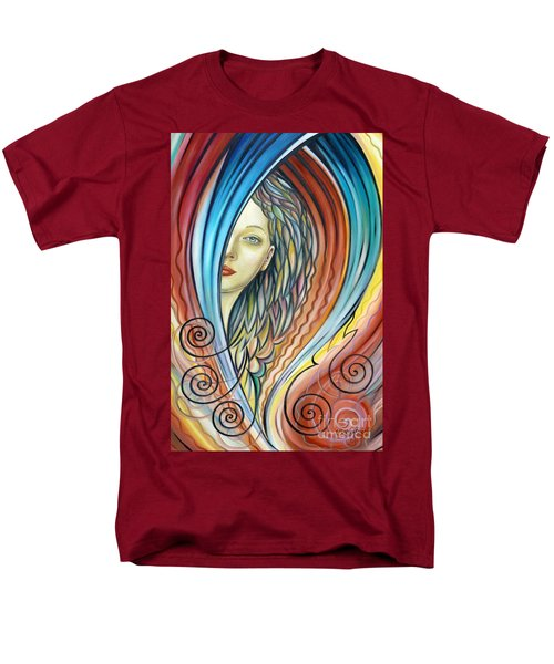 Men's T-Shirt  (Regular Fit) featuring the painting Illusive Water Nymph 240908 by Selena Boron