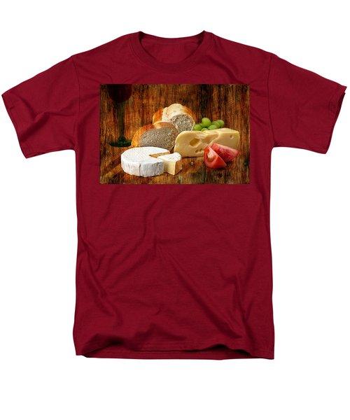 Norwegian Jarlsberg And Camembert Men's T-Shirt  (Regular Fit) by Gunter Nezhoda