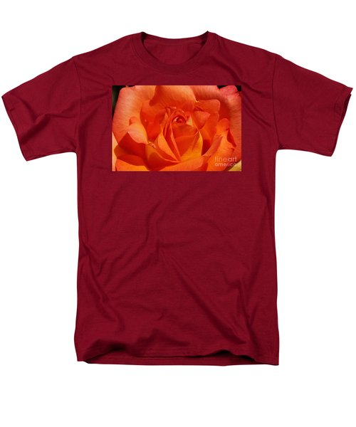 Men's T-Shirt  (Regular Fit) featuring the photograph Orange Rose 1 by Rudi Prott