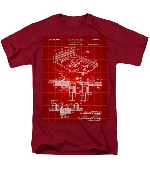 Pinball Machine Patent 1939 - Red Men's T-Shirt  (Regular Fit) by Stephen Younts