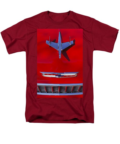 1955 Chevrolet Belair Nomad Hood Ornament Men's T-Shirt  (Regular Fit) by Jill Reger