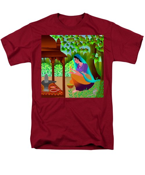 A Silent Prayer In Solitude Men's T-Shirt  (Regular Fit) by Latha Gokuldas Panicker