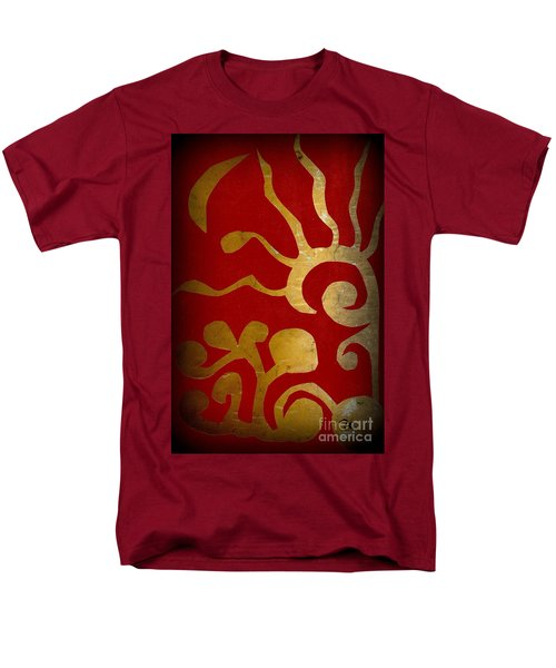 Abstract Gold Collage Men's T-Shirt  (Regular Fit) by Patricia Cleasby