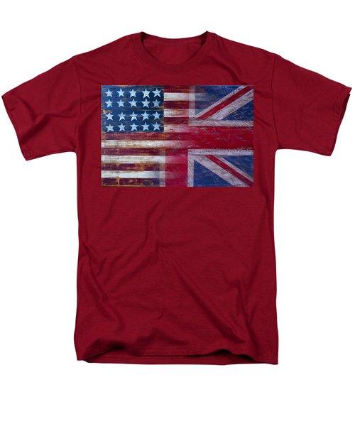 American British Flag 2 Men's T-Shirt  (Regular Fit) by Garry Gay