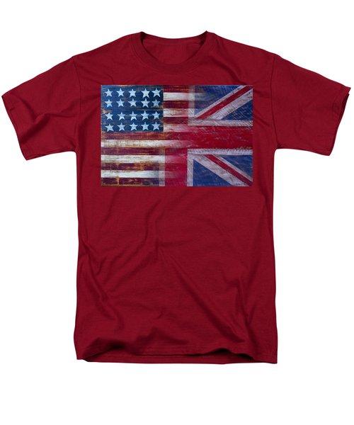 American British Flag Men's T-Shirt  (Regular Fit) by Garry Gay