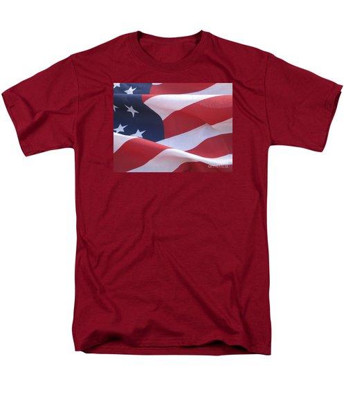 Men's T-Shirt  (Regular Fit) featuring the photograph American Flag   by Chrisann Ellis