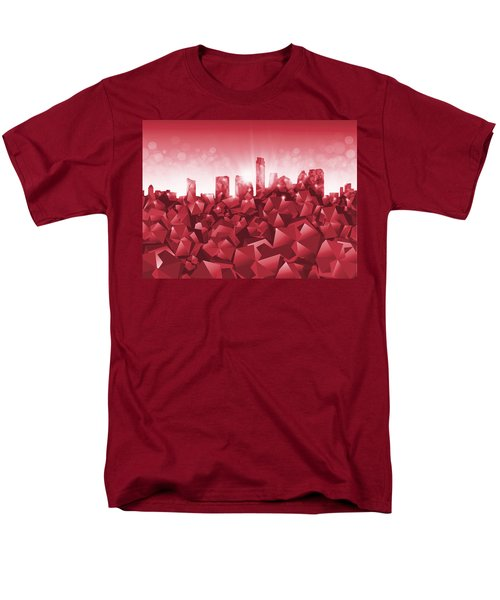 Austin Skyline Geometry Men's T-Shirt  (Regular Fit)
