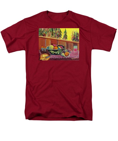 Men's T-Shirt  (Regular Fit) featuring the painting Bavarian Breakfast With Strawberry Milk by Betty Pieper