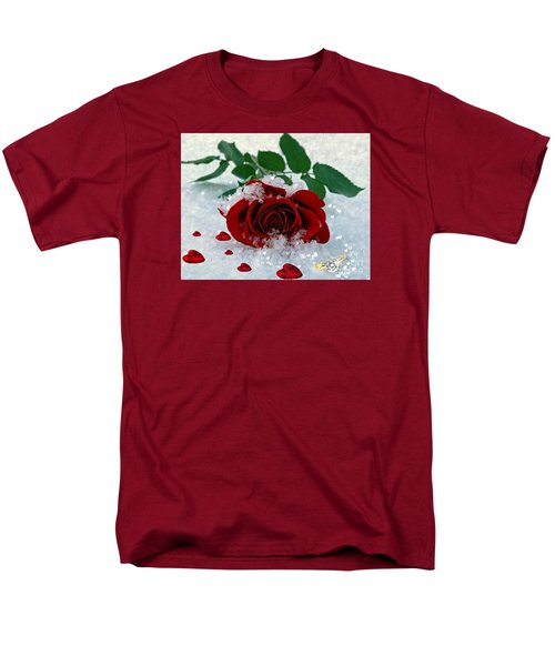 Men's T-Shirt  (Regular Fit) featuring the mixed media Be Mine by Morag Bates