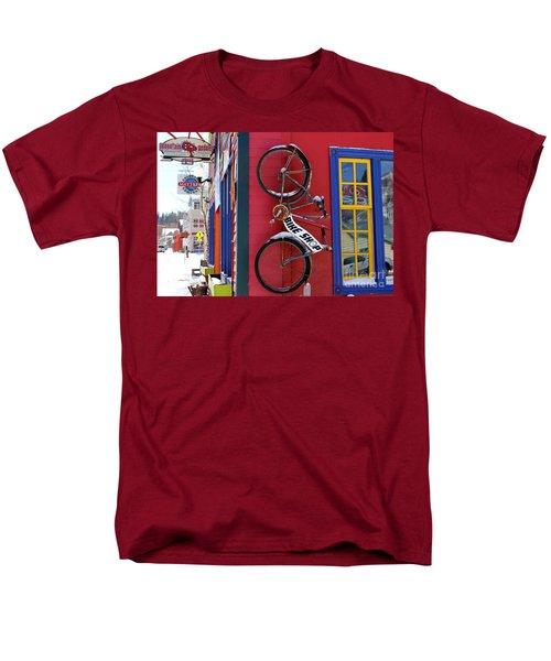 Men's T-Shirt  (Regular Fit) featuring the photograph Bike Shop by Fiona Kennard