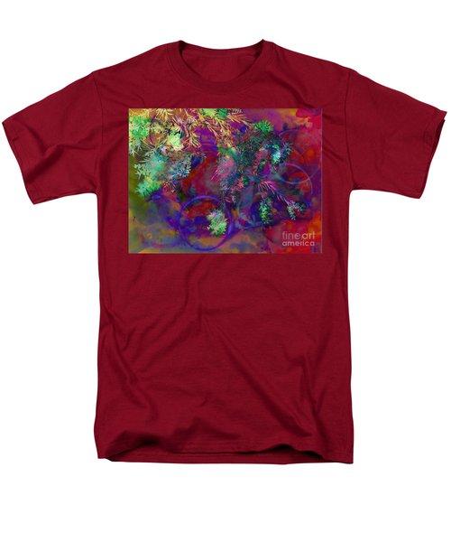 Brushing Circles  Men's T-Shirt  (Regular Fit) by Meghan at FireBonnet Art