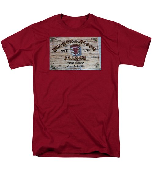 Bucket Of Blood Saloon 1876 Men's T-Shirt  (Regular Fit) by David Millenheft