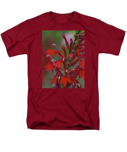 Cardinal Flower Men's T-Shirt  (Regular Fit) by Jane Eleanor Nicholas
