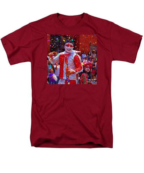 Carnival Man At The Day Of The Crazies Parade Men's T-Shirt  (Regular Fit) by John  Kolenberg