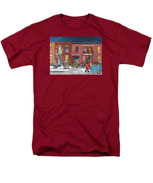 Christmas In The City Men's T-Shirt  (Regular Fit) by Reb Frost