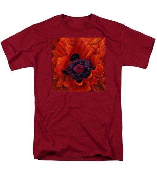 Close Up Poppy Men's T-Shirt  (Regular Fit) by Billie Colson